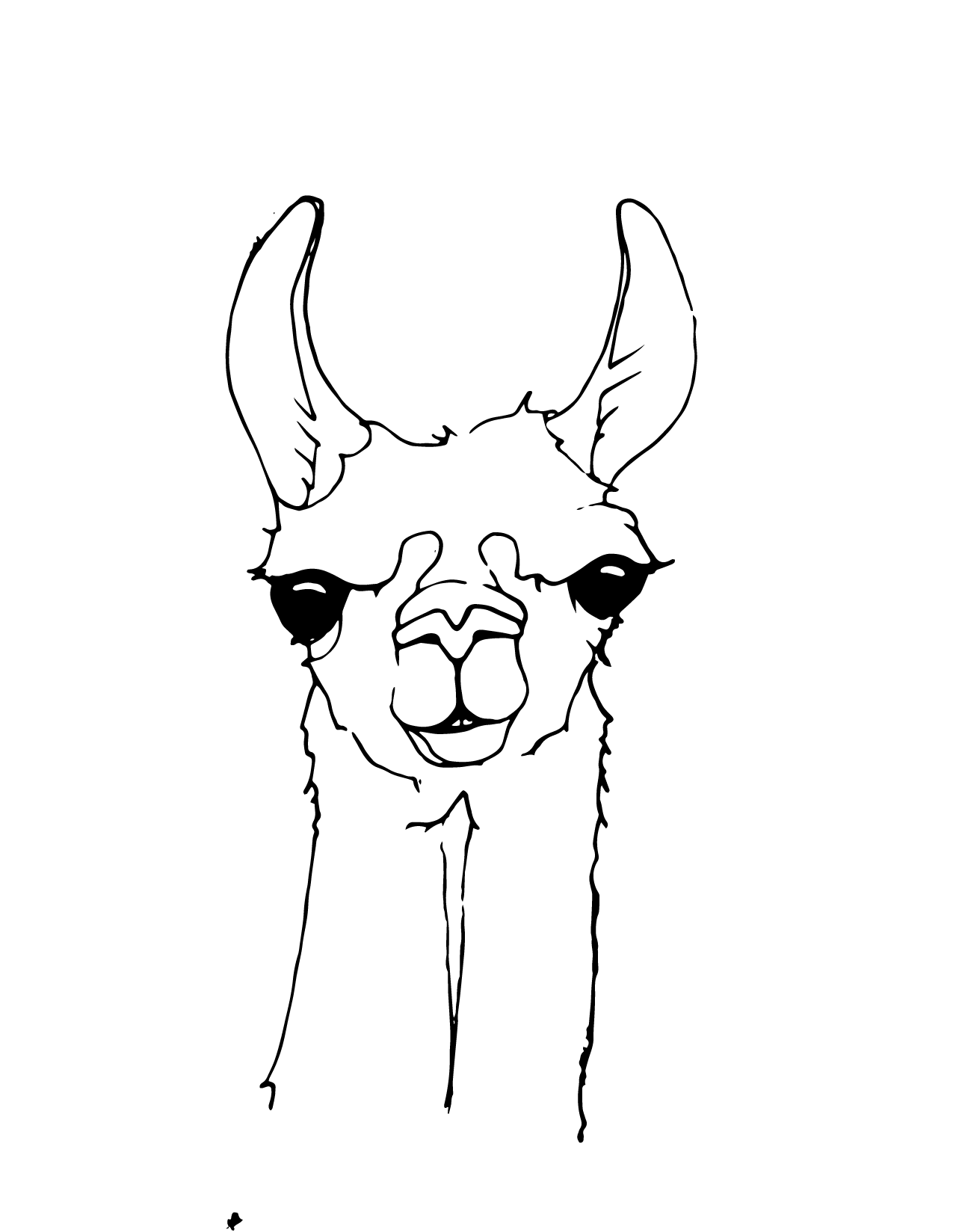 Related Pictures funny llama coloring page